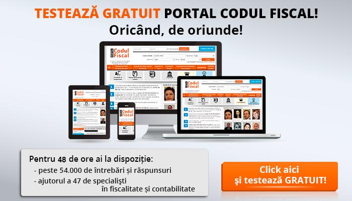 Testeaza gratuit Portalul Codul Fiscal